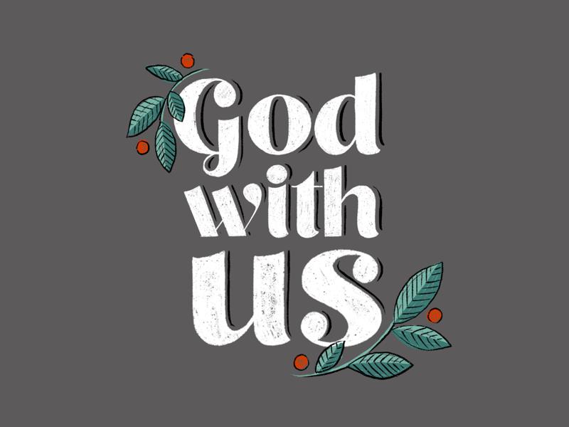 Emmanuel. lettering bible christmas digital illustration ipad illustration
