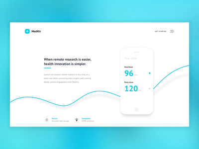 Medikit web design