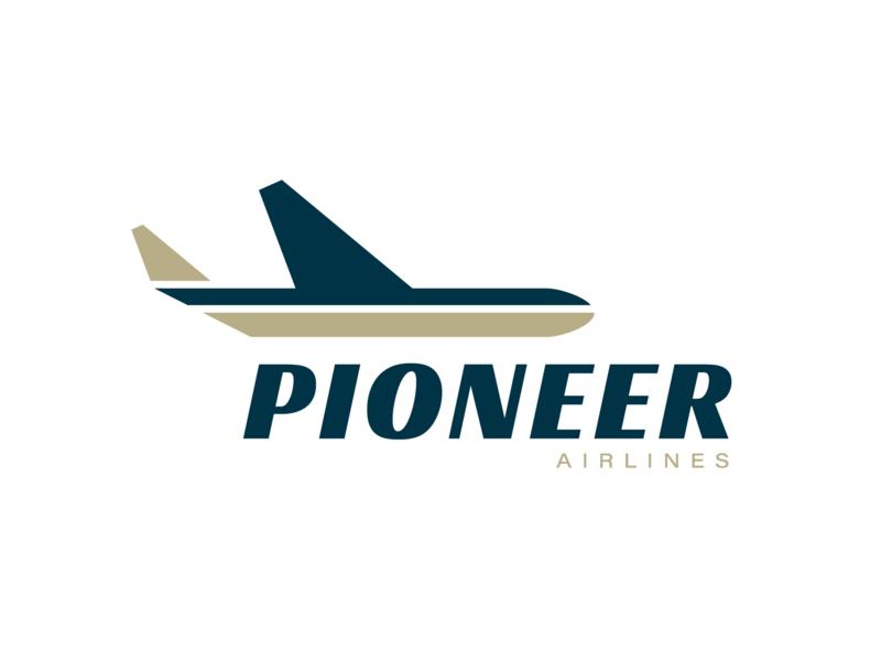 Logo Design Challenge (Day 12) - Airlines (Pioneer Airlines) logo concept branding designer freelance designer freelance design airlines logo airline logo airplane logo logo design logo branding