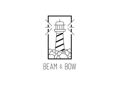 Logo Design Challenge (Day 31) - Lighthouse (Beam & Bow)
