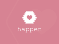 Logo Design Challenge (Day 41) - Dating App (Happen)