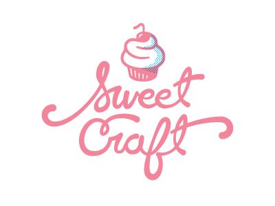 Sweet craft cupcake logo