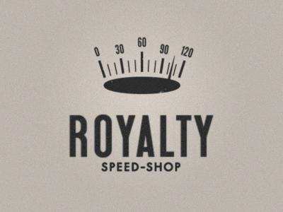 Royalty speed-shop crown speedometer logo garage automotive