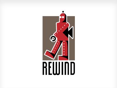 Rewind logo robot rewind toy logo