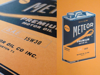 Meteor Oil can print