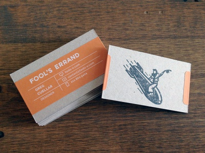 Business Cards stamp chipboard business card cowboy bomb rocket new brand