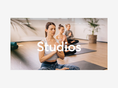 Mindbody Studios Page yoga studio yoga product design digital principle app exploration desktop design ui after affects animation website design visual design