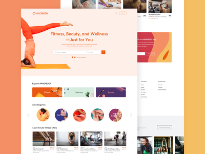 Homepage Design wellness beauty fitness ux branding digital desktop design design website design visual design