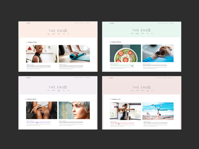 The Enso Blog Category Pages desktop fitness beauty wellness blog color branding ui digital website design visual design