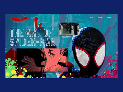 Spider-Man: Into the Spider-Verse Website Concept marvel after affects website animation after effects exploration design website design ux visual design animation