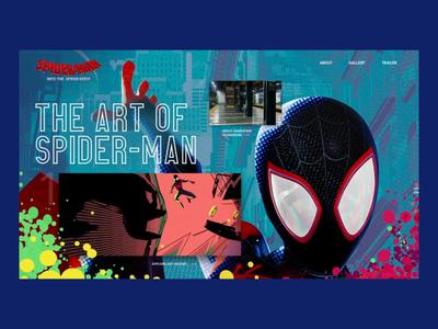Spider-Man: Into the Spider-Verse Website Concept