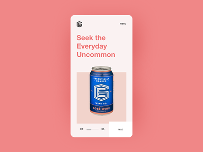 Essentially Geared Wine Co. Mobile Website Concept