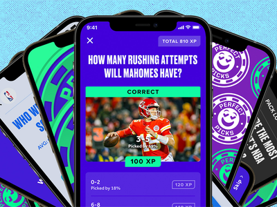Perfect Picks 🤑 ux ui design games sports uiux user interface user experience app design product design bleacher report