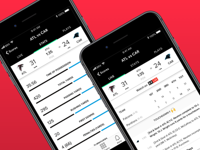 Live Games Experience 🙌 games sports uiux user interface user experience app design product design bleacher report