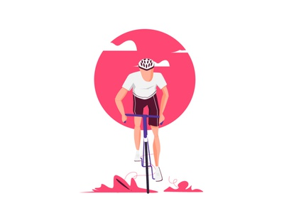 sunset cycling ux ui cartoon design illustration sarwar ahmed shafi illustrations cycling kit ]cycling logo cycling illustration cycler cycle sunset cycling men cycling cycling