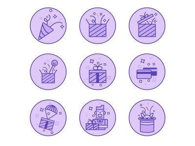Celebration Surprise Icon set icoc illustration icoc illustration illustration sarwar ahmed shafi landing page icon website icon gift icon set 2020 gift icon set 2020 celebration icon set icon 2020 icon 2020 christmas icon set surprise icon surprise icon celebration icon