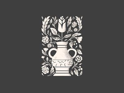 Howlin Vase poster texture illustration vase flowers floral