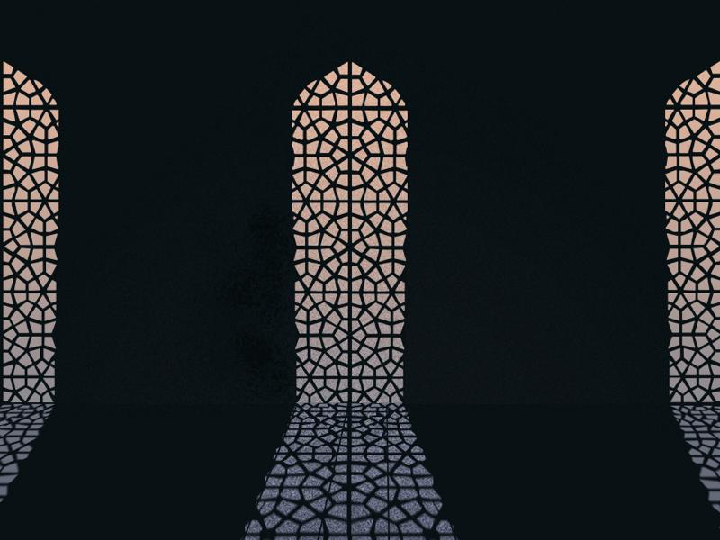 Light speckle tunisa desert light window texture illustration