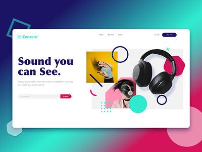 Zenzero landing page branding illustration animation web design ui web landing page design clean ui adobe xd