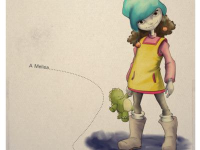 La niña que comía cosas que no hacen sombra digital art children book illustration