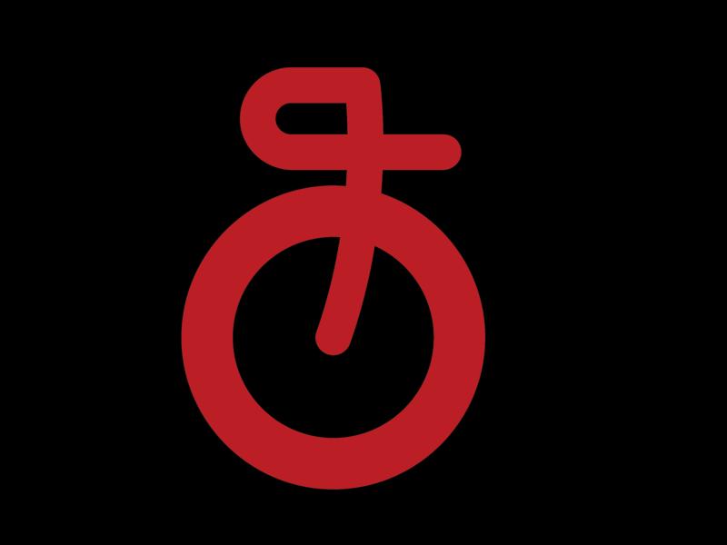 Fork & Wheel Logo mark minimal website web illustration vector logo icon design branding