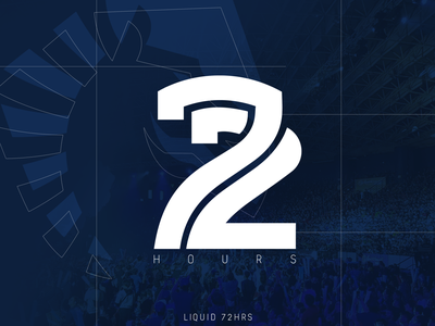 72hrs streamer twitch esports teamliquid 72hrs liquid minimal logo design typography lines graphic design graphic art graphic logo branding vector design