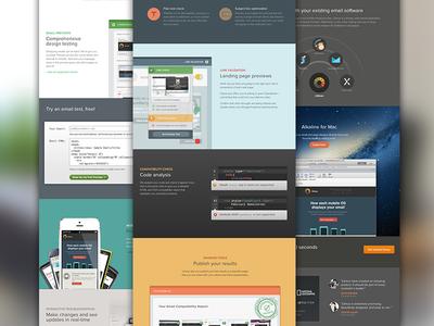 New Litmus.com Landing Page litmus litmus.com website landing page homepage redesign web app marketing flat ui web page