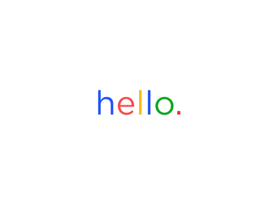 Hello google by pendar yousefi dribbble hello google stopboris Gallery