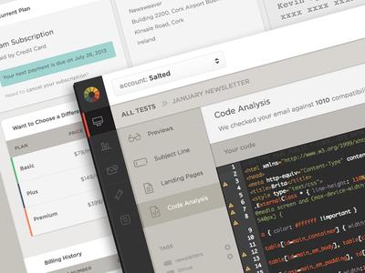 Litmus App Redesign web app dashboard admin email app users chart graph management data litmus code