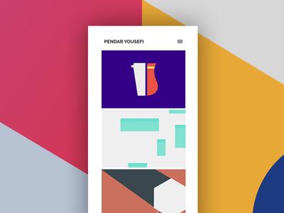 New portfolio illustration material festival google ux ui folio website personal portfolio