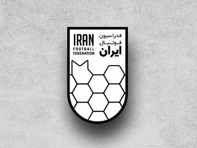 Iran Football Federation logo redesign geometric redesign fa association federation grid crest branding logo soccer football iran