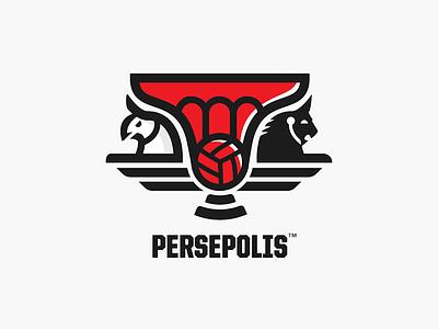 Persepolis logo griffins logo redesign team persian iran football soccer branding