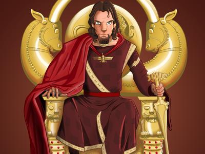 Xerxes Final xerxes persian king throne 300