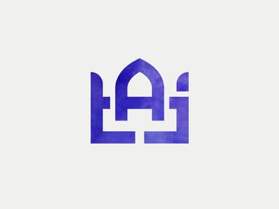 Taj brand logo minimal geometric lines architecture esteghlal crown dome taj mahal taj