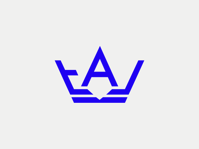 Taj FC elegant geometric minimal typography football soccer brand logo iran esteghlal crown taj