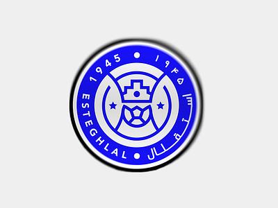 Esteghlal FC redesign branding logo blue sports badge crest soccer football taj esteghal