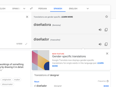 Takeaways from redesigning Google Translate website ui translate redesign googledesign material design google