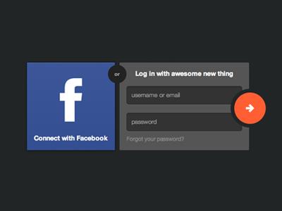 Login login facebook ui login form form landing