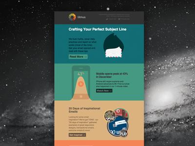 December Newsletter email litmus newsletter colors pastel email design marketing