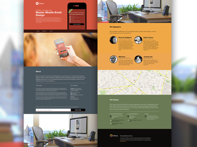 Black art landing page landing page event homepage litmus email email marketing responsive