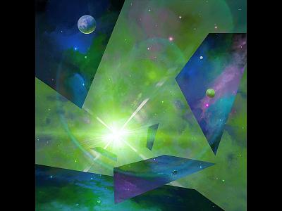 Gates To Other Worlds 2 abstract fantasy artistmef design geometry illustration surrealism space igor vitkovskiy concept art art