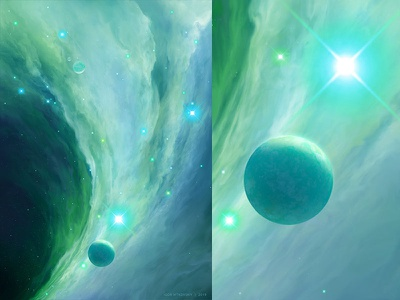 Untitled Nebula 2 planet photoshop nebula abstract surrealism space fantasy concept art illustration artistmef igor vitkovskiy art