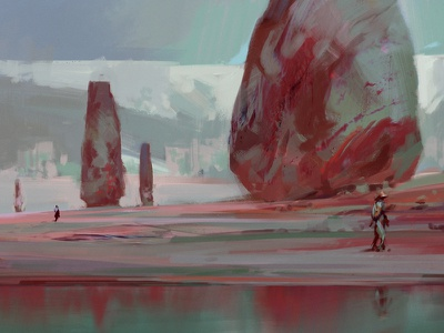Sketch 212 oil painting sketch artistmef landscape art fantasy design surrealism surreal igor vitkovskiy concept art