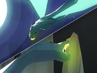 Low Poly Dragon Rebound