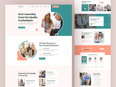 Medical Landing Page Explorations ⚕️⚕️ marketing agency doctor appointment best shot mobile ui medical landing page website design ux landingpage ui homepage doctor health medical medical app psychologist psychology ladingpage landing design landing page landing page design