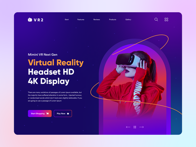 Virtual Reality Headset Landing Page Header vr shop agency landing page shop page 2021 trend ecommerce online shop online store homepage landingpage website header website design vr landing page virtual reality landing page landing page ui landing landing page design header exploration clean ui ui