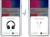 Airpods-esque menu for all connected audio devices - iOS concept