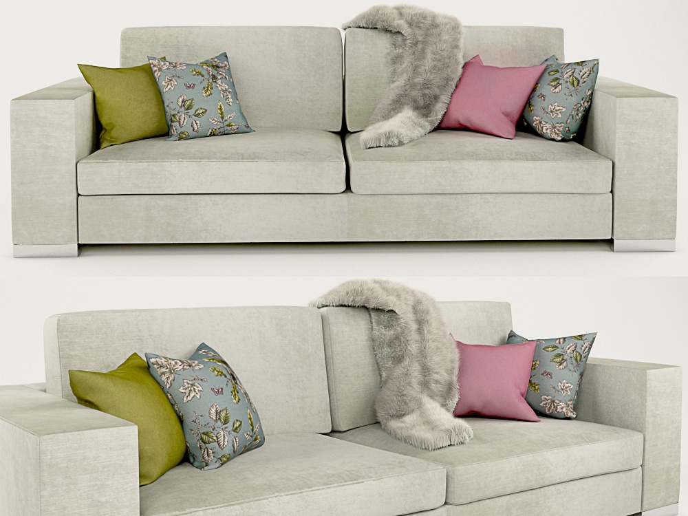Couch photoshop vray render design 3dmax 3d model