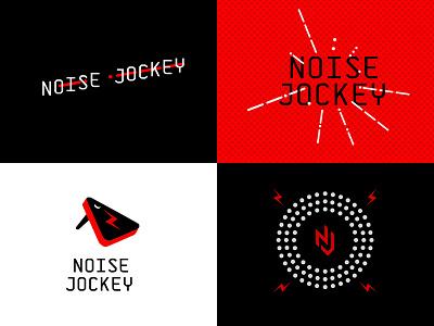noise jockey branding illustration identity design logotype icon mark type typography audio music logo branding