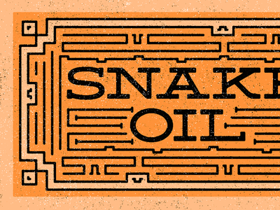 Snake Oil game type tribute pattern brand deming